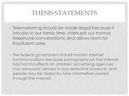 wme p thesis statements show the writer s unique approach point 3 thesis statements telemarketing