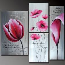 pink flowers modern canvas art wall decor floral oil painting wall art with stretched on canvas wall art pink flowers with pink flowers modern canvas art wall decor floral oil painting wall