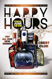 Happy Hour Flyer Download The Happy Hours Free Flyer And Poster Template For