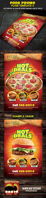 food promo flyer template 3 by mixmedia87 graphicriver food promo flyer template 3 restaurant flyers