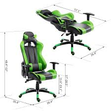 office reclining chair. HOMCOM Racecar Style High Back Office Reclining Chair Ergonomic Swivel Seat