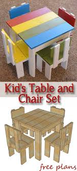 easy wood projects plans. build an easy table and chair set for the little kids. costs about wood projects plans l