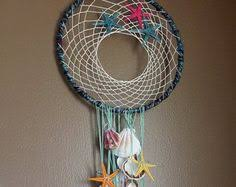Double Dream Catchers Triangle wood pink and brown sea shells Dream Catcher by Nampeya 52