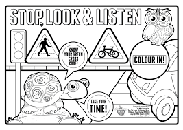 Small Picture Colouring Pages For Road Safety Safety signs coloring pages home