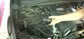 remove the top of the air box filter and lower air box assembly