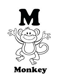 Monkey Coloring Page Koshigayainfo