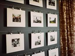 Chic Hanging Photos Without Frames With Stainless Steel Track Photos Rack  Feat