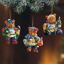 Teddy Bear Christmas Ornaments Set #1 oceantreasures.net