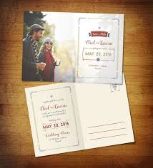 Free Save The Date Pre Wedding Post Card Design Template