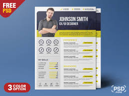 Creative Resume Template Psd Psd Zone