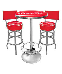 this coca cola ultimate game room barstool table set by coca cola is