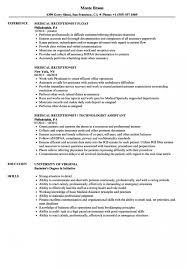 Resume Templates Image 5a133ea298e10 Impressive Receptionist Front