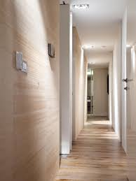 contemporary hallway lighting. Wooden Wall And Ceiling Interior Hallway Lighting Contemporary A