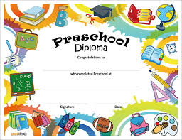 Kids Certificate Border Preschool Diploma Template Magdalene Project Org