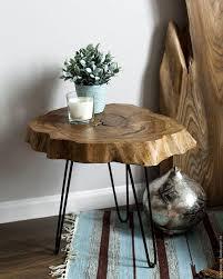 live edge table wood slice coffee table