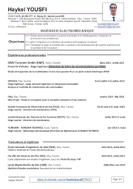 Cv Haykel Yousfi Cv In French Cv In English Version 40 November Magnificent Resume In French