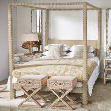 Four Poster Bed Zamindar Four Poster Bed King With Mattress Oka