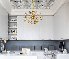 wallpapered office home design. Tray Ceiling Wallpaper Wallpapered Office Home Design
