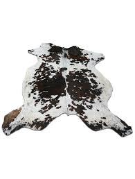 gorgeous tricolor brindle cowhide rug