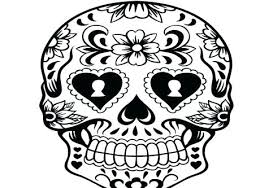 Day Of The Dead Coloring Sheets Day Of The Dead Skulls Coloring