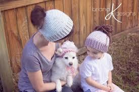 Crochet Dog Hat Pattern Custom 48 Crochet Messy Bun Hat Patterns