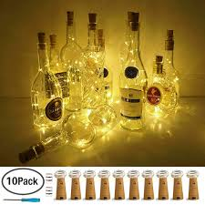 Amazoncom Lovenite Wine Bottle Lights With Cork Warm White 10