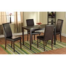 traditional faux leather parson dining chair set of 2 com chairs 4