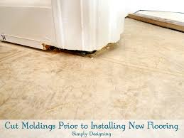 colorful installing laminate flooring under door jambs picture