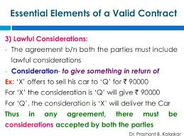 Contract Essential Elements Magnificent Indian Contract Act 44