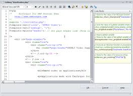 Internal PHP, JS and HTML Editor
