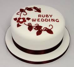 Ruby Wedding Cakes Uk