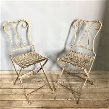 Old style 5 foot pine bench. Pair Of Antique French Folding Garden Chairs Tramps Vintage Decorative