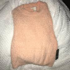 Fuzzy Light Pink Sweater Very Cute Soft Fuzzy Light Pink Sweater Shirt Has Depop