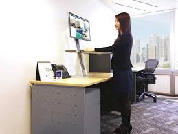 office space desk. Standing Revolution: Office Space Designs Promoting Wellness At Workplace Desk