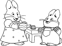 New Max And Ruby Coloring Pages To Print Collection Printable