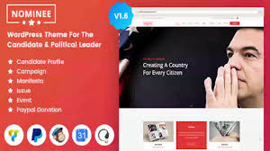 Political Website Templates Nominee Theme For Candidate Political Leader Themeforest