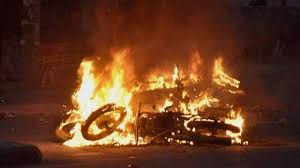 Image result for images of burning rohtak