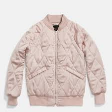 Coach Quilted Blouson Jacket in Pink | Lyst & Gallery. Women's Quilted Jackets Adamdwight.com