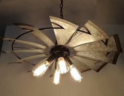 windmill ceiling fan with light. LampGoods\u0027 Lead Designer Has Done It Again With This 4-light Chandelier Featuring An Original, Heavy Galvanized Windmill. * 30\ Windmill Ceiling Fan Light O