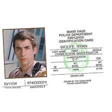 Card Miami Character Togo csi Id Jonathan