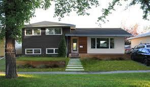 Split Level House Being Transformed Into A Craftsman Style - Split level exterior remodel