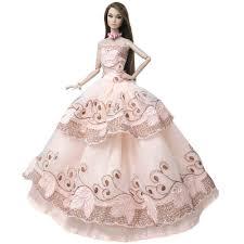 Barbie Princess Dress Design Buy Princess Wedding Dress Noble Party Gown For Barbie Doll
