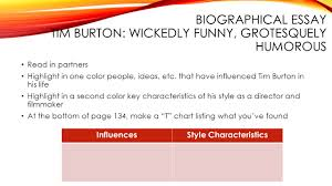 lesson director s style authorial study ppt video online  biographical essay tim burton wickedly funny grotesquely humorous