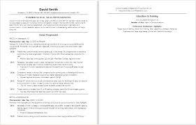 Sales Rep Resume Example Pharmaceutical Sales Resume Example