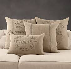 Vintage French Linen Pillow Covers