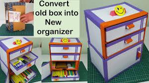 how to make a diy desk organizer drawer organizer out of cardboard simple ideas
