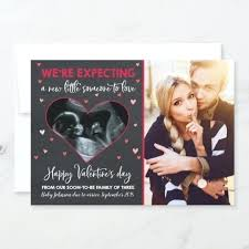 valentines day pregnancy announcement cards valentines pregnancy announcement valentines day photo cards