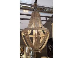 extra large wooden beaded chandelier ceiling light