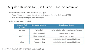 U500 Insulin Conversion Chart Concentrate Key Takeaways Of New Insulin Products Ppt