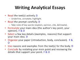 writing on the road to parcc grades ppt  writing analytical essays